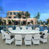 Dining Table and Chair Tables and Bar Stools Leisure Rattan Wicker Table Garden Furniture Sets Z557