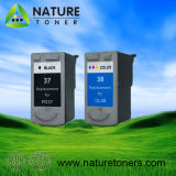Remanufactured Ink Cartridge for Canon PG-37, CL-38