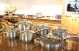 12PCS Stainless Steel Non-Stick Cookware Set Kitchenware (JL-0109)