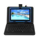 China Factory 7 Inch Android Tablet with Keyboard Case Blue