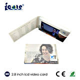 Hot Selling 2.8 Inch 300mA LCD Video Card for Business Using
