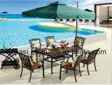 Outdoor /Rattan / Garden / Patio / Hotel Furniture Cast Aluminum Chair & Table Set (HS 3196C&HS 7131DT& HS 5003R)