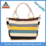 Fashion Women Customized Cotton Rope Handle Canvas Beach Tote Bag