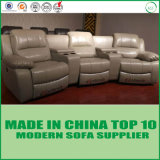 Modern Living Room Furniture Home Theater Functional Recliner Leather Sofa