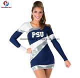 Cheap Top Quality Custom Design Fitness Long Sleeves Cheerleading Dress Wear for Woman