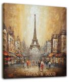 Paris Street Scenes Oil Painting (ADA9117)