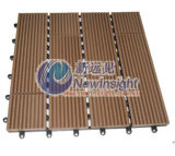 DIY Decking Tile Wood Plastic Composite Decking, Plastic Lumber (LHMT017)