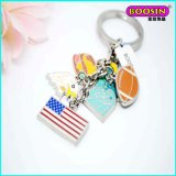 Wholesale Custom Cheap Alloy Enamel Charm Metal Keychain