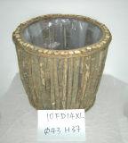 Round Wooden Garden Planter by Handmade