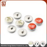 Round Monocolor Individual Snap Metal Button for Bags