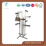 4 Way Handbag Display Rack with Straight Arm