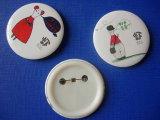 Tin Button Badge, Custom Lapel Pin (HY-MKT-0045)