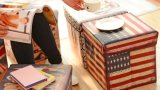 PVC Leather Foldable Storage Ottoman for Home Use