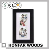 Modern Home Decoration Black Wood Picture Frame Display 2 Photos