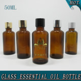 50ml Glossy Empty Amber Cosmetic Glass Essential Oil Bottle
