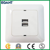 2017 New Style USB Wall Outlet, White, 3.4A
