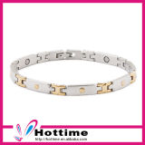 Hottime Silver Gold Plated Health Magnetic Bracelet for Lady