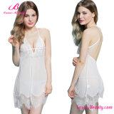 Pure Bliss Feminine Lace White Women Party Dress