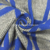 Blue Check Gry Swallow Gird Wool Fabric