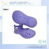 EVA Purple Flat Kids Shoe with Magic Tape Upper Strap