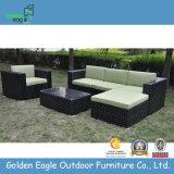 Black Rattan Garden Patio Sofa & Table Set (S0202)