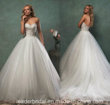 Lace Bridal Ball Gowns Tulle Sweetheart Wedding Dresses V6806