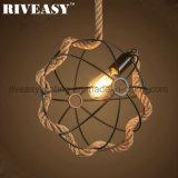 Home Indoor Lighting Hemp Rope Creative Hanging Pendant Lamp