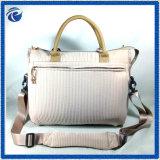 Beige Corduory Women Handbag for Autumn Season