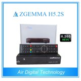 Multi-Functions H. 265/Hevc DVB-S2+S2 Twin Tuners Zgemma H5.2s Linux OS Enigma2 Satellite Receiver
