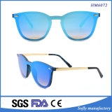Popular Frameless Metal Temples Fashion Polarized Coating Sunglasses Cat