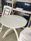 Modern Pure White Plastic Round Beach Reastaurant Bar Table for Cafe
