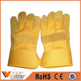 Durable Comfortable Machinist Cow Split Leather Work Gloves Safety Gloves Wholesale Form China Manufacture