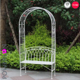 Rustic Gothic Two Seat Garden Bench with Arch