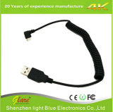 90 Degrees Spring Coiled Charging Cable