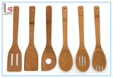 New Set of 6 Bamboo Kitchen Tools, in Mesh Bag