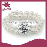 White Natural Pearl Bracelet (2015 Plb-044)