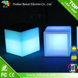 LED Cube Chair with Leather Cushion