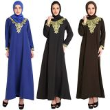 Muslim Women Dress Dubai Abaya Kaftan with Scarf