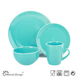 Solid Color with White Rim 16PCS Ceramic Dinner Set