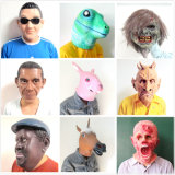 Cosplay Halloween Horse Head Brown White Latex Animal Party Costume Masks