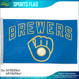 Polyester Milwaukee Brewers Glove Retro-Style Official MLB Baseball 3′x5′ Flag