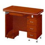 Wooden Veneer Computer Desk for Office