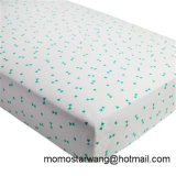 Qualified 100% Knitted Jersey Cotton Full Printing Baby Crib Sheet