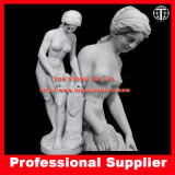 Bather Marble Sculpture Women Marble Statue Stone Carving for Garden