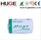 3.6V 1/2AA Er14250 Li-Socl2 Battery for Water Meter 1200mAh