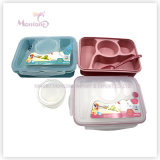 4 Compartment Food Container Kids Plastic Lunch Box with Lock