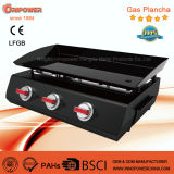 3 Burner Gaz Plancha BBQ Grill with Ce for France