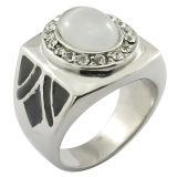 Resin Glue Stone Stainless Steel Man Finger Ring