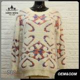 Women Soft Warm Fur Knit Sweater