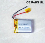 Rechargeable 502025 200mAh Li Polymer Battery (UL, CE)